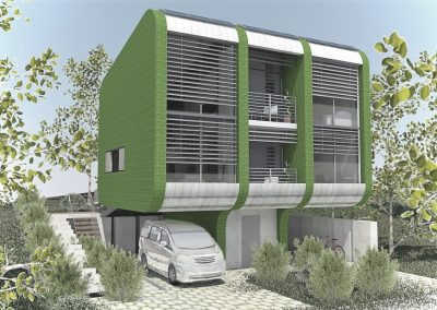 Prototype of a compact residential building